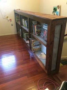 Railing bookshelf